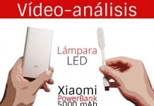 Xiaomi PowerBank y Lampara LED