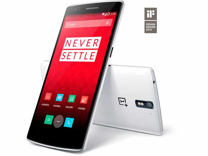 Trasera y frontal OnePlus One