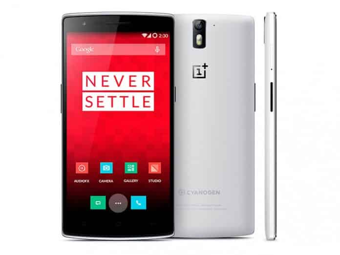OnePlus One vista lateral, frontal y trasera