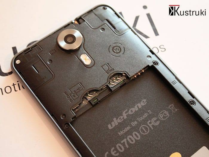 UleFone Be Touch 2 detalle microSIMs