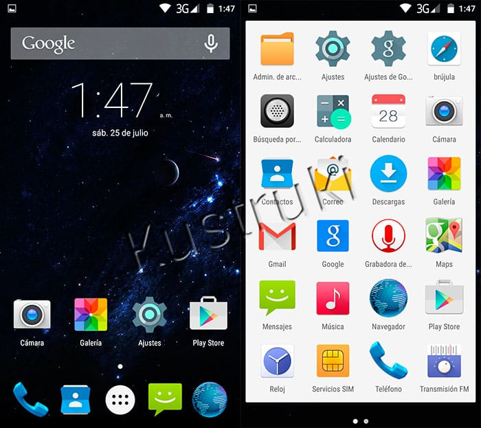 UleFone Be Touch 2 Launcher