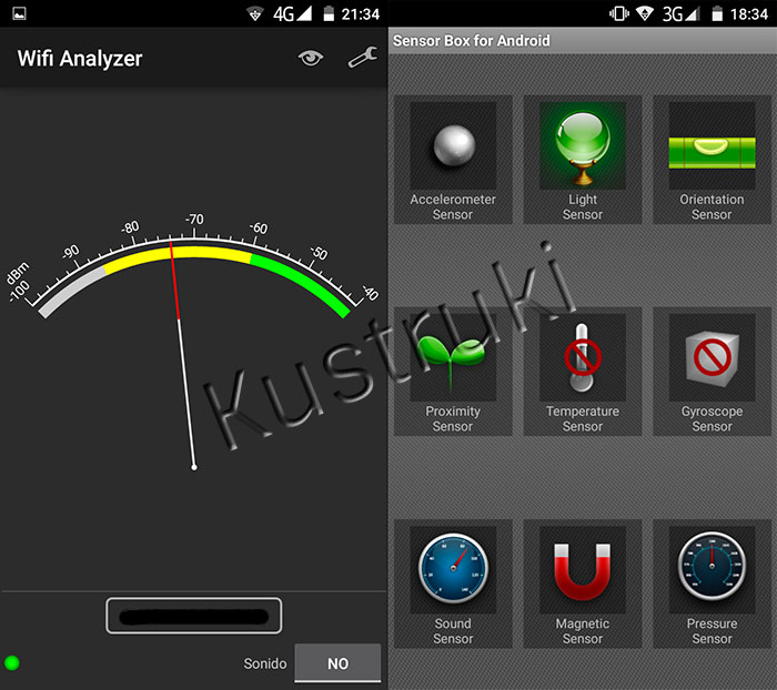 UleFone Be Touch 2 Wifi y Sensores