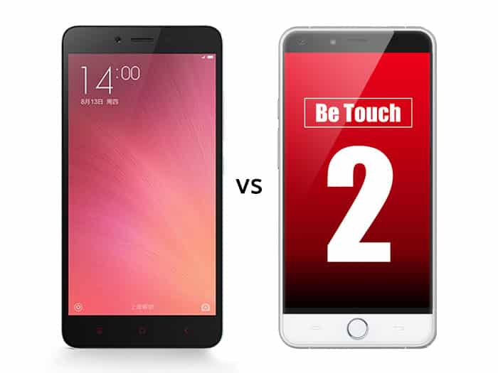 Xiaomi Redmi Note 2 vs Ulefone Be Touch 2