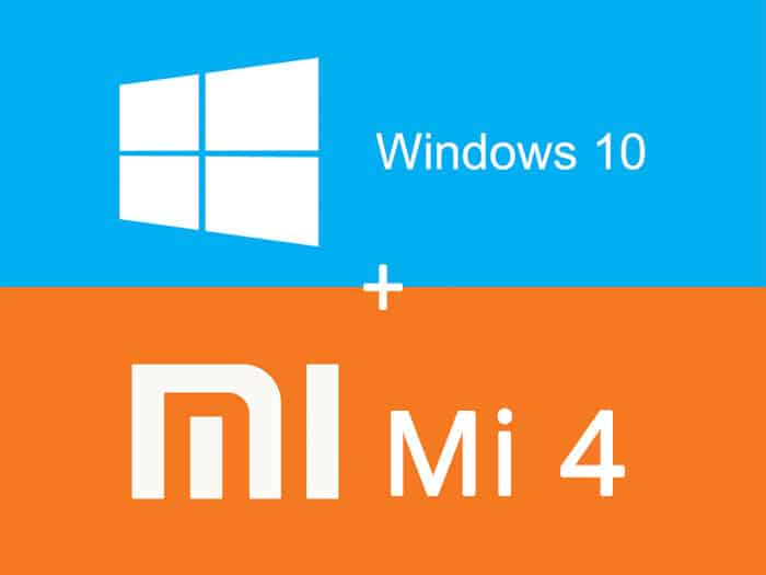 Windows 10 Xiaomi Mi 4