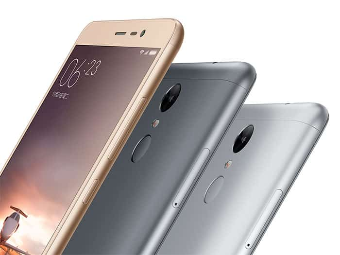 Xiaomi Redmi Note 3 a 3 colores