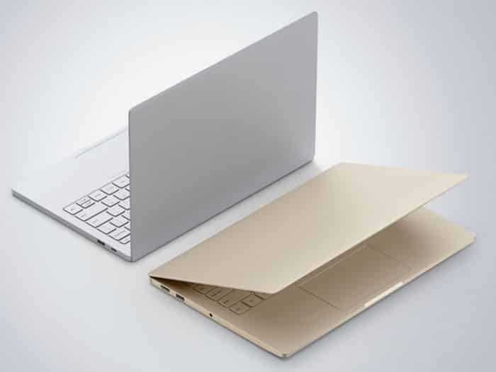 Xiaomi Mi Notebook Air dorado y plata